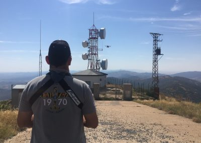 Inspección antenas con drones