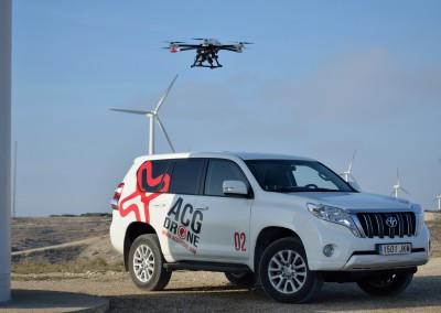 ACG Drone - revisión molinos energía eólica