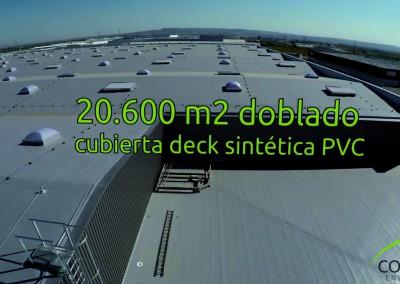 Revisión de cubiertas en nave industrial